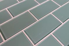 Seaside Blue 3x6 Glass Subway Tiles