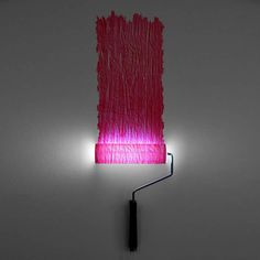 Photos © Natalie Sampson This is the funniest lamp I've seen so far during my search for upcycle design. The nice thing about the 'Paint Roller Lamp' is that yo Lego Lamp, Lego Table, Up Balloons, Industrial Design, Sconces, Home Goods, Upcycle, Diys, Wall Lights