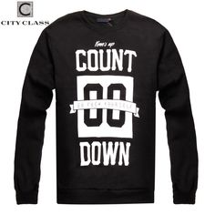 CITY CLASS 2016 Autumn&Winter Men's Sweatshirts of Brand Clothing Harajuku Hip Hop Hoodies for Male Outerwear Print Letter 2760