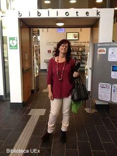 Angeles Ferrer, directora del Servicio de Biblioteca UEX en la Universidad de Boras, Suecia