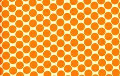 Amy Butler - Fat quarter -  Lotus Full Moon Dot AB13 in Tangerine