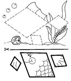 Actividades para niños preescolar, primaria e inicial. Fichas con manualidades para imprimir para niños de preescolar y primaria. Manualidades. 15