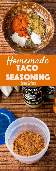 Make your own homemade taco seasoning! It is more economical compared to store-bought mixes without any fillers or preservatives. Chances are you already have all of the ingredients in your spice cabinet. Sponsored