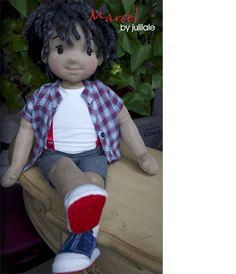 Waldorf doll, cheerful boy, handmade doll by JuliLale