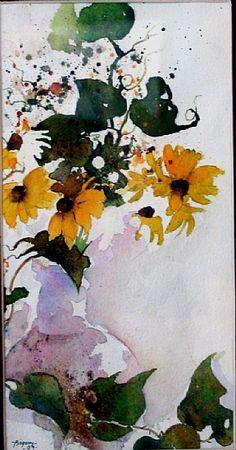Ron Bigony - watercolor on paper
