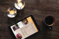 Allt om mat - redesign på webbsida (tablet). Mockup