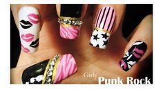 Girl punk rock nails