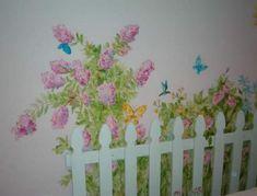 Flower Murals For Girls Room | flower garden for little girl's room - WetCanvas