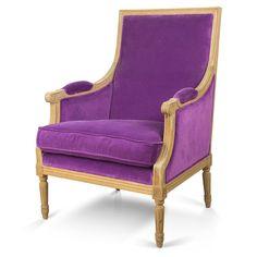 Butaca de terciopelo violeta