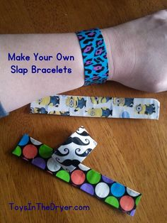 Make Your Own Slap Bracelet with duct tape, a measuring tape, and scissors.