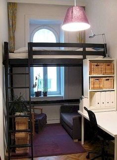 small room design bedroom, loft beds for small rooms, ikea small bedroom Small Bedroom Designs, Master Bedroom Design, Bedroom Loft, Bedroom Apartment, Apartment Living, Bedroom Small, Diy Bedroom, Bed Designs, Mezzanine Bedroom