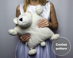Crochet Polar Bear Pillow Pattern PDF Crochet Interior Baby | Etsy