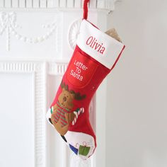 Red Letter To Santa Stocking