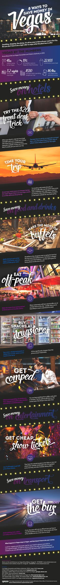 8 Ways to Save Money in #Vegas [INFOGRAPHIC] // Digital Remix //  #Infographic #VegasTips