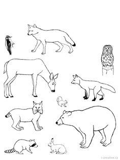 zvieratká v lese omalovanky - Hľadať Googlom Snoopy, Fictional Characters, Fantasy Characters