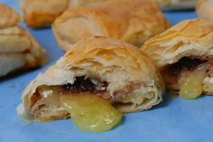 Ham and Brie Phyllo Bites. This recipe is a little tricky for first timers but well worth the attempt. I could not stop eating these when we tested them. I polished off about 10 and they are delicious! http://www.countrygrocer.com/recipe/ham-and-brie-phyllo-bites/