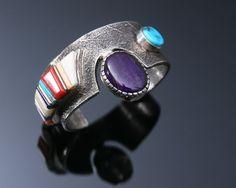 Wes Willie Sterling Silver Cuff Bracelet.   http://www.leotasindianart.com/    #nativeamericanjewelry    #turquoisejewelry