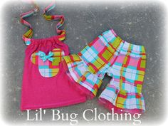 Custom Boutique Clothing Summer Plaid Minnie Mouse Tulle and Halter Top. $45.00, via Etsy.