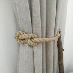 Curtain Tie Backs..Set of Two..Nursery Curtain TieBacks..Gypsy | Etsy Curtain Tie Backs Tassels, Rope Curtain Tie Back, Rope Tie Backs, Tassel Curtains, Macrame Curtain, Burlap Curtains, Curtain Ties, Nautical Curtains, Nursery Curtains