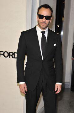 トムフォード,ブラックスーツ着こなし