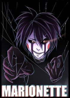 Marionette by on DeviantArt <<< wow amazing fanart Good Horror Games, Rpg Horror Games, Anime Fnaf, Anime Guys, Anime Male, Five Nights At Freddy's, Marionette Fnaf, Creepy Games, Yume