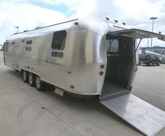 polished airstream 345 motorhome this is just awesome
