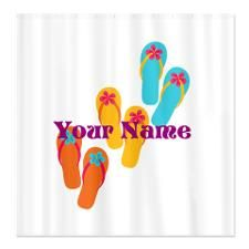 Personalized Flip Flops Shower Curtain
