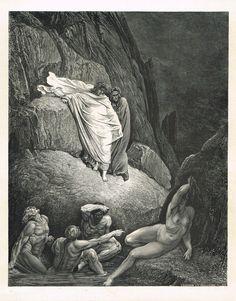 La Divine Comédie - L'enfer - illustration de Gustave Doré gravée par Monvoisin - planche 44