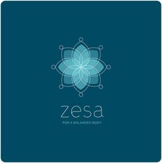 zesa Branding by Fernando Gonzalez, via Behance Branding Agency, Logo Branding, Branding Design, Logos Yoga, Massage Logo, Inspiration Logo Design, Lotus Logo, Spa Logo, Flower Logo