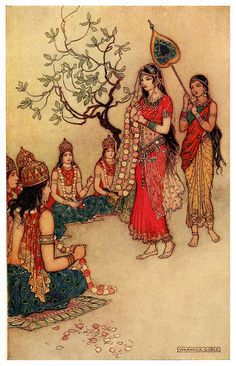 Damayanti choosing a Husband - Indian Myth and Legend, 1913