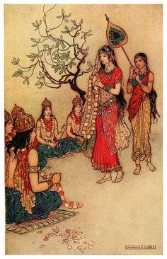 Damayanti choosing a Husband - Indian Myth and Legend, 1913