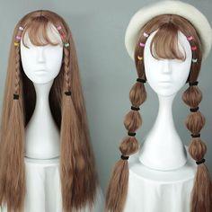 Light Brown Slightly Wavy Harajuku Wig