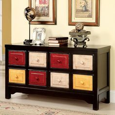 Furniture of America CM-AC550 Woodstock Eight Drawer Chest