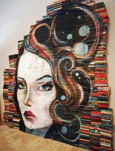 Art with books. I like these a lot!