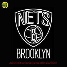 Brooklyn Nets NBAA Neon Sign Neon Bulb Neon signs for bar Recreation Room Glass Tube Handcrafted personalized custom Sign  31x24 #Affiliate