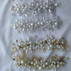 Tocados para novia  Bride Hair accesories Brooch, Jewelry, Bugle Beads, Bridal Headpieces, Sequins, Gems, Hand Embroidery, Boyfriends, Accessories