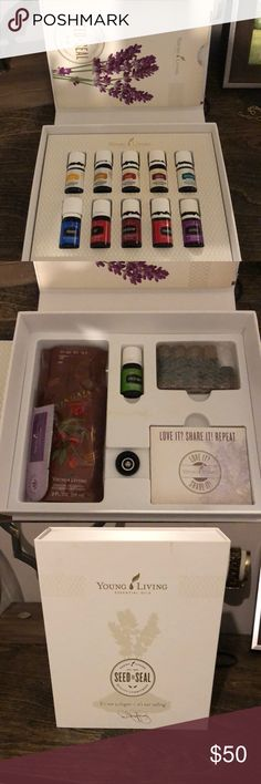 {🆕 Listing} YoungLiving starter kit This is the YL starter kit. Comes with 10 essential oil's, 9 empty travel size bottles for mixing the oils. All except 3 of the essential oils have been opened. None are over half used! This is great for someone expanding their collection or just getting started. This retails over $200 youngliving Other