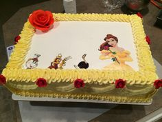 Beauty and the Beast cake.