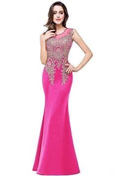 861d4f25141 Amazon.com  MisShow Women s Rhinestone Lace Mermaid Prom Dress Long Evening  Gowns  Clothing