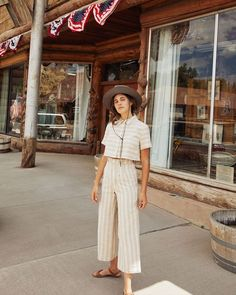 83 Cute Summer Outfits Hats Ideas for Women Summer Fashion Trends, Summer Fashion Outfits, Cute Summer Outfits, Cute Outfits, Summer Fashions, Fashion Clothes, Summer Clothes, Fashion Ideas, Summer Pants