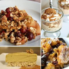 Healthy Thanksgiving Dessert Recipes, I really want to try the pumpkin bread pudding.