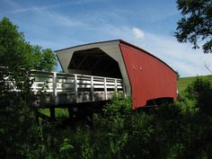 Cedar Bridges was build in 1883 destroyd by arson in 2002 and re-build in 2004,Madison County ,Iowa