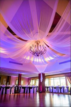 Naples Wedding & Events Venue Gallery - Vineyards Country Club. Ceiling Draping, Ceiling Decor, Bat Mitzvah Decorations, Wedding Decorations, Wedding Wows, Dream Wedding, Wedding Events, Weddings, Ceremony Backdrop