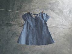 'Checkered Dress'by Little Merah Jambu. Checkered cotton short sleeve summer dress for little girls. Minimal, easy, comfortable and stylish kids everyday wear