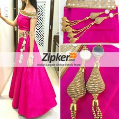 d00b4af6be7dd New Pink Color Taffeta Silk Party Wear Crop Top Lehenga Choli Simple Lehenga  Choli
