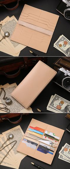 SUPER MULTI-SLOT Retro Leather Wallet Womens by OXHIDENature  $66.76 SGD