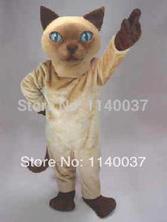 mascot Siamese Cat mascot costume custom fancy costume theme cosplay kits Cartoon Character anime carnival costume fancy dress #Affiliate
