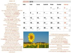 NAPtár nyolcadik oldal  Saját verseimből szerkesztett NAPtár a 216-os évre sok SZERetettel. :)