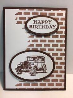 My Creative Corner!: Guy Greetings Masculine Birthday Card Embossing Paste Technique Stampin' Up! Bday Cards, Birthday Cards For Men, Handmade Birthday Cards, Birthday Greeting Cards, Birthday Greetings, Graduation Cards, Scrapbooking Diy, Scrapbook Cards, Masculine Birthday Cards