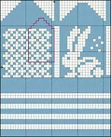 Bilderesultat for strikkemønster kanin Knitting For Charity, Fair Isle Knitting, Knitting For Kids, Knitting Projects, Knitting Charts, Baby Knitting Patterns, Knitting Stitches, Knitting Socks, Knitted Mittens Pattern